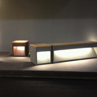 B-LUX LAP BENCH luminaria outdoor David Abad urban
