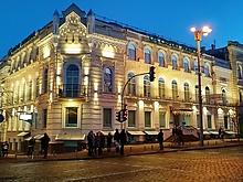 Закончена работа по освещению фасадов ведущего европейского банка.