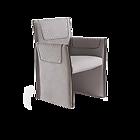 VITFRI VF50230 Cesi Small armchair Pelle B Plus  Leather B Plus NUBUK/2118 Leather B Plus NUBUK/2118  Without feet