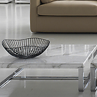 UP2 T9 Coffee table, top – marble, Base - chrome