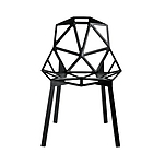 MAGIS Chair_One SD461 anodised black - black 5130 + подушка для стула MAGIS CHAIR_ONE CUSHION PU SD5480 N BLACK пластик