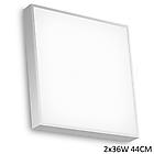 LINEA 71657 потолочник 440*440 h-65 металл белый, рассеиватель белый мат стекло