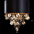 AIARDINI 117(A)SP/8L  ESMERALDA CHANDELIERS 8 LIGHT BLACH-GOLD-SATIN GOLD