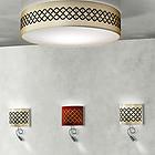LIKA PLCRO80E27 T02 Ceiling lamp 3 X E27 42W HALOGEN ECO Ø 800 H180 потолочник (цвет бежевый) D-800mm H-180mm