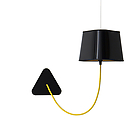 DESIGN Aspnnj Applique susp.Petit Nuage black lacquered/yellow interior-yellow cord бра