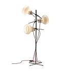 ARK Blob 65021floor lamp struttura titanio glass grey outside and white inside