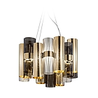 SLAMP LAL87SOS0000OF000 LA LOLLO SUSPENSION LAMP GOLD/FUME'