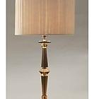CD_LDA MBV1403DC LUME FORTUNY GRANDE colori: Cognac /Finitura: Nichel / Shade CHIFFON AVORIO W9  D35 - 20 H25  настольная лампа