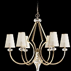 PORC 5558/5/BO TARSIA WHITE GOLD CHANDELIER WITH LAMPSHADE люстра