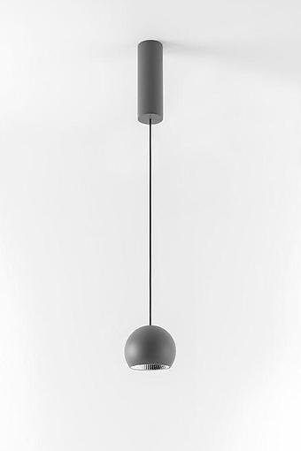 MDL 14230376 Marbul suspension LED 3000K Tre dim GI donkey grey struc + 10217530 Magnetic reflector ø82 LED flood champagne