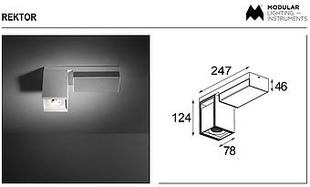 MDL 12828166 Rektor LED 3000K flood Tre dim GI white struc - smoked bronze